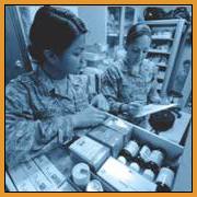 Airmen in the Pharmacy