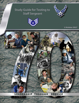 Cover of Air Force Study Guide for Testing to Staff Sergeant